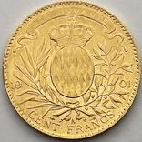 100 франков. 1901. Альберт I. Монако (золото 900, вес 32,24 г), фото №3