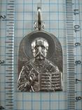 Серебряный Кулон Большой Подвеска Святой Николай Чудотворец Никола Серебро 925 проба 873, фото №4