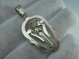 Серебряный Кулон Подвеска Святой Ангел Хранитель Крылья Серебро 925 проба 529, фото №3