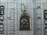 Серебряный Кулон Подвеска Образок Богородица Казанская Иисус Христос Серебро 925 проба 551 фото 3