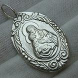 Серебряный Кулон Подвеска Образок Ладанка Богородица Иисус Христос Серебро 925 проба 339 фото 1