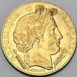 """10 франков. 1899. """"Революция"""" Франция (золото 900, вес 3,21 г), фото №2"""