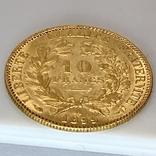 """10 франков. 1899. """"Революция"""" Франция (золото 900, вес 3,21 г), фото №4"""