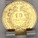 """10 франков. 1899. """"Революция"""" Франция (золото 900, вес 3,21 г), фото №10"""