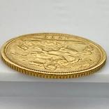 1/2 фунта (1/2 соверена). 1896. Виктория. Великобритания (золото 917, вес 3,92 г), фото №5