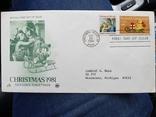 Марка первого дня США рождество 1981, фото №4