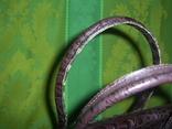 Сумка кожаная с тиснением Франция, фото №12