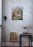 Картина, Дівчина з яблуком, 50х60 см. Живопис на полотні, фото №5