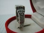 Серебряное Кольцо Перстень Размер 22.75 Мальтийский Крест Молитва 925 проба Серебро 513, фото №4