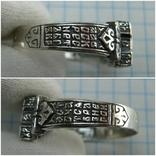 Серебряное Кольцо Перстень Размер 22.75 Мальтийский Крест Молитва 925 проба Серебро 513, фото №6