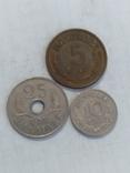 Монеты Дании 3 штуки, фото №2