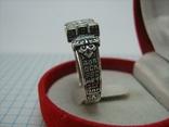Новое Серебряное Кольцо Перстень Размер 23.0 Мальтийский Крест 925 проба Серебро 515, фото №4