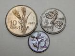 3 монеты Турции, фото №2