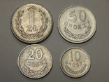 4 монеты Польши, 1949 г, фото №2