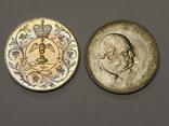 2 монеты по 1 кроне, Великобритания, 1965/77 г.г., фото №2