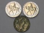 3 монеты по 1 кроне, 1965/77 г.г. Великобритания, фото №3