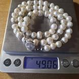 Намисто нове з перлин натуральних 52 см, фото №12