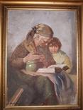 Бабуся з онучкою, художник Людвік Ровінскі, перша половина 20 століття, фото №2