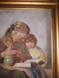 Бабуся з онучкою, художник Людвік Ровінскі, перша половина 20 століття, фото №8