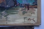 Порт Корабли Акварель с подписью 1975, 55,5 на 39 см., фото №3