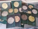 Откритки . Еропейские редкие монети 16 шт, фото №2