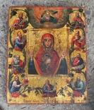 """Курская-Коренная икона Божией Матери """"Знамение."""" 19 век., фото №2"""