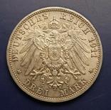 3 марки 1911 р. Вюртемберг. Весільна, фото №5