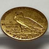 2,5 доллара. 1911. США (золото 900, вес 4,12 г), фото №12