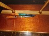 Настольный прибор Столичный,ручки с золотым пером,1978 г., фото №4
