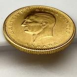 100 куруш. 1970. Турция (золото 917, вес 7,24 г), фото №6