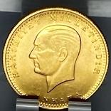 100 куруш. 1970. Турция (золото 917, вес 7,24 г), фото №11