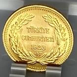 100 куруш. 1970. Турция (золото 917, вес 7,24 г), фото №12