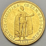 20 корон. 1912. Франц Иосиф I. Австро-Венгрия (золото 900, вес 6,80 г), фото №2