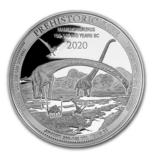 """Маменчизавр 20 франков 2020 Серебро 999,9 серия """"Доисторическая жизнь"""", фото №4"""