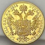 1 дукат. 1915. Франк Иосиф. Австрия (золото 986, вес 3,48 г), фото №10