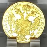 1 дукат. 1915. Франк Иосиф. Австрия (золото 986, вес 3,48 г), фото №12