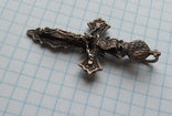 Крест , серебро 925 пр. с трезубом, фото №2
