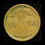 Германия 2 пфеннига 1936, фото №2