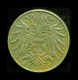Австрия 2 геллера 1918 железо, фото №3