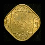 Британская Индия 1/2 анны 1943 Unc, фото №3