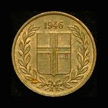 Исландия 1 эре 1946 Unc, фото №2