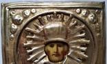 Ікона Микола Чудотворець, латунь 13,3х11,2 см, кіот, фото №7