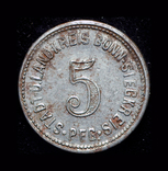 Бонн 5 пфеннигов 1918 железо, фото №3