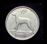 Ирландия 6 пенсов 1940, фото №3