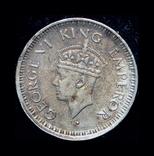 Британская Индия 1/4 рупии 1944 серебро, фото №3