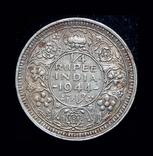 Британская Индия 1/4 рупии 1944 серебро, фото №2