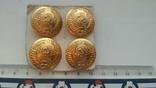 Пуговицы, генеральские, позолоченные, с гербом СССР, не ношенные, фото №2