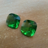 Камені із старовинних прикрас 2 шт. (зелені), фото №2