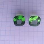 Камені із старовинних прикрас 2 шт. (зелені), фото №4