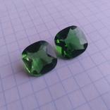 Камені із старовинних прикрас 2 шт. (зелені), фото №5